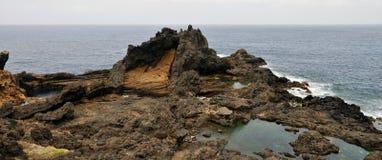 Salt Pool on Lava rocks Stock Photography