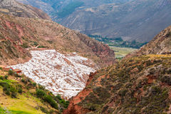 Salt Pools in Peru Stock Photography