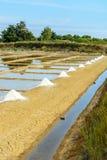 Salt port, Oleron, France Royalty Free Stock Images