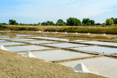 Salt port, Oleron, France Stock Photos