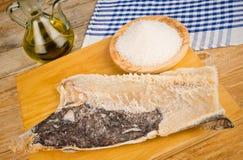 Salt preserved cod Royalty Free Stock Photo