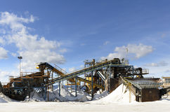 Salt processing Stock Photography
