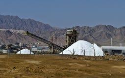 Salt production Stock Images