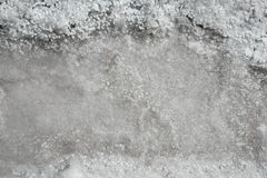 Salt production from dried sea saltwater Royalty Free Stock Photos