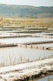 Salt production Royalty Free Stock Photo
