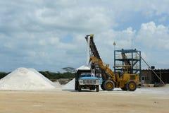 Salt production on Guajira peninsula Stock Photos