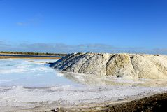 Salt Production in India Royalty Free Stock Photos