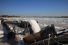 Salt Production at Marsala stock images