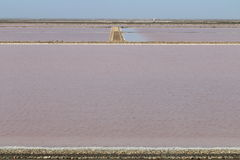 Salt production Mas des Crottes, Camargue in France Stock Image