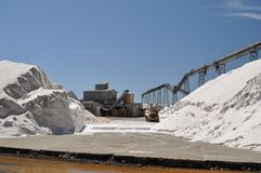 Salt production plant Royalty Free Stock Photos