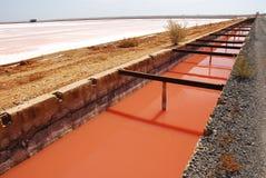 Salt production in Spain Stock Photos