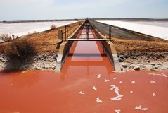 Salt production in Spain Royalty Free Stock Images