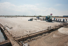 Salt produktion i Black Sea Fotografering för Bildbyråer