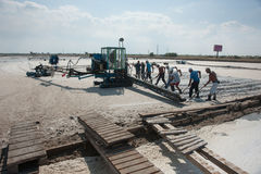 Salt produktion i Bulgarien Royaltyfri Bild