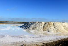 Salt produktion i Indien Royaltyfria Foton