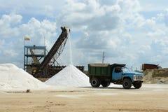 Salt produktion på Guakhirs halvö arkivbilder
