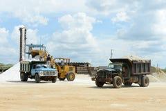 Salt produktion på Guakhirs halvö royaltyfria foton