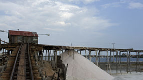 Salt refinery Stock Photo