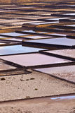 Salt refinery, Salinas de Janubio, Lanzarote Stock Photography