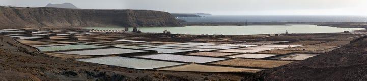 Salt refinery, Salinas de Janubio, Lanzarote Stock Images