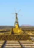 Salt refinery, Salinas de Janubio, Lanzarote Royalty Free Stock Photography