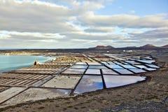 Salt refinery, Saline from Janubio, Royalty Free Stock Photo