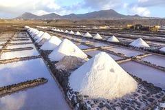 Salt refinery, Saline from Janubio, Stock Photo