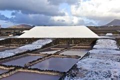 Salt refinery, Saline from Janubio, Royalty Free Stock Image