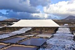 Salt refinery, Saline from Janubio, Lanzarote Stock Images