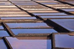 Salt refinery, Saline from Janubio, Lanzarote Royalty Free Stock Photography