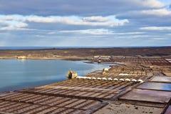 Salt refinery, Saline from Janubio Stock Photos