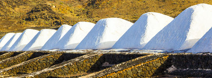 Salt refinery, Saline from Janubio, Stock Photography