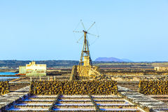 Salt refinery, Saline from Janubio Royalty Free Stock Images