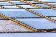 Salt refinery, Saline from Janubio, Lanzarote Stock Photography