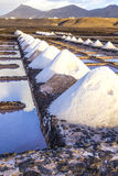 Salt refinery, Saline from Janubio, Lanzarote Royalty Free Stock Image