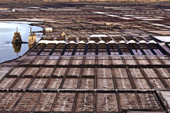 Salt refinery, Saline from Janubio, Lanzarote Stock Photos