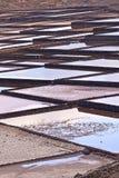 Salt refinery, Saline from Janubio, Lanzarote Royalty Free Stock Photos