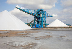 Salt refinery Royalty Free Stock Images