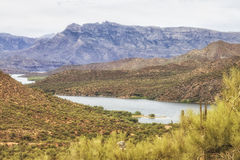 Salt River at Apache trail scenic drive, Arizona Stock Photo