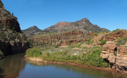 Salt River Canyon Arizona. The Salt River Canyon Which seperates the Apache Nation Reservations in Arizona Stock Image
