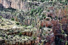 Salt River Canyon Wilderness Area, Tonto National Forest, Gila County, Arizona, United States. Scenic landscape view of the Salt River Canyon Wilderness area stock images