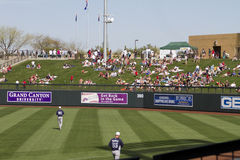 MLB Cactus League Spring Training Game. The Salt River Fields at Talking Stick is the Major League Baseball's spring training Cactus League location of the Royalty Free Stock Photo