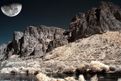 Salt River Moon Stock Photo