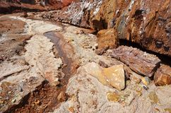 Free Salt River Of Rainbow Mountains In Hormuz Island And Stock Image - 160709831