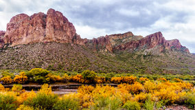 The Salt River and surrounding mountains Stock Photography