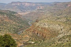 Salt River view. Scenic view of the Salt River Canyon in Arizona Stock Images