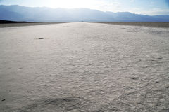 Salt road in Devil's Golf Course, Death Valley Royalty Free Stock Photography