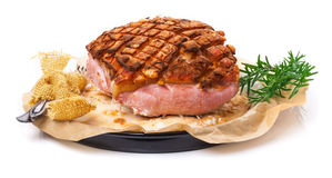 Salt roast, pork roast crust Stock Image