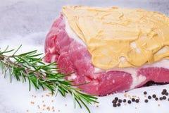 Salt roast, pork roast, preparation Stock Images