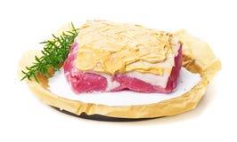 Salt roast, pork roast, preparation Royalty Free Stock Photos